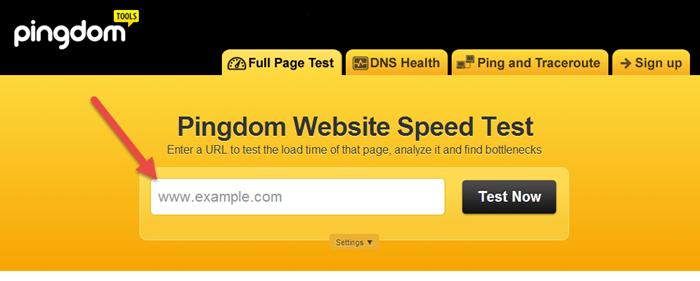 בדיקת מהירות אתר 1