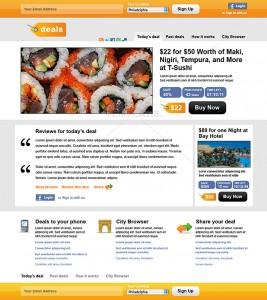 עיצוב אתר קופונים בתחום מזון אתר דילים יומיים כמו גרופון גרופר