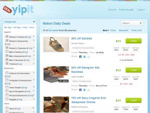 yipit - אתר קופונים ידידותי ונוח דומה לביי2 buy2 גרופון