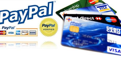 """חיוב אשראי בחנות וירטואלית סליקה ע""""י פייפאל כרטיסי אשראי PCI"""